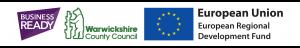 Business Ready, ERDF, WCC logos